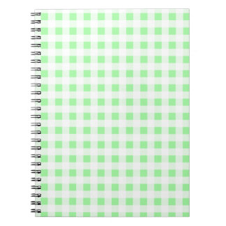 Pale Green Gingham Notebook