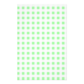Pale Green Gingham Stationery