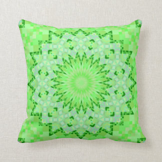 Pale Green Kaleidoscopic Pillow