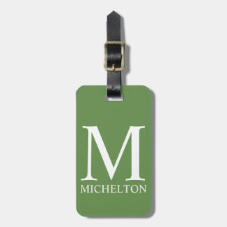 Pale Green Monogrammed Bag Tag