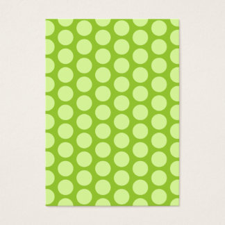 Pale Green Polka Dots Business Card