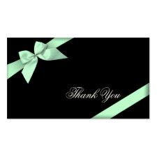 Pale Green Ribbon Thank You Minicard profilecard