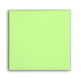 Pale Green Square Scrollwork Monogrammed Envelopes