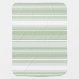 Pale green stripes receiving blanket