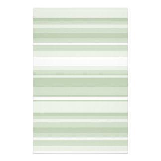 Pale green stripes stationery