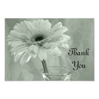 Pale Green Tinted Daisy Thank You Notes - Flat Card