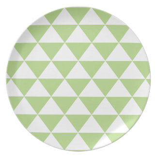 Pale Green Triangle Pattern Plate