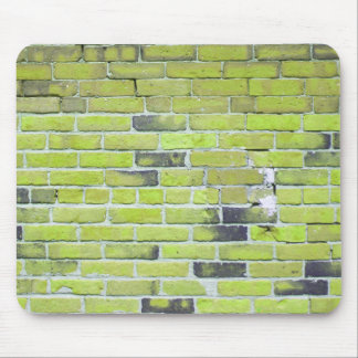 Pale Green Vintage Brick Wall Texture Mouse Pad