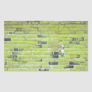 Pale Green Vintage Brick Wall Texture Rectangle Sticker