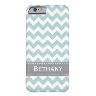 Pale Greenish Blue Chevron Barely There iPhone 6 Case