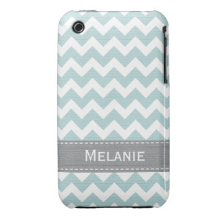 Pale Greenish Blue Chevron iPhone 3g 3gs Case Mate iPhone 3 Cover