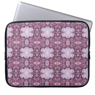pale grey gray lavender pink feather laptop sleeve