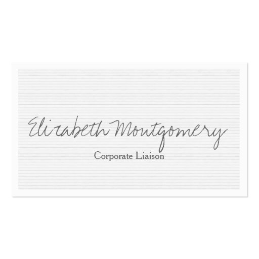 Pale Grey Modern Professional Business Card