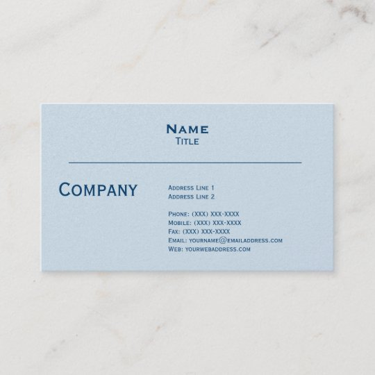 Pale Grey Pearl Finish Business Card
