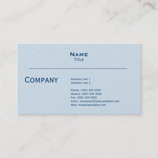 Pale Grey Pearl Finish Business Card Zazzle Com