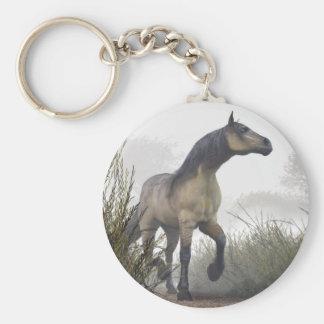 Pale Horse in the Mist Basic Round Button Keychain