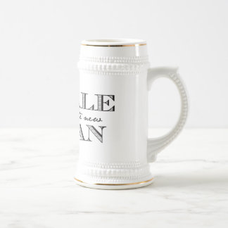 Pale is the New Tan Beer Stein