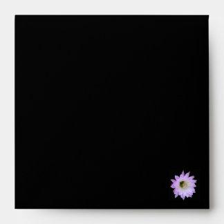Pale Lavender Floral Envelope