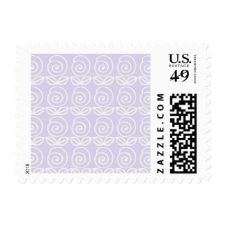Pale Lavender Purple Flower Pattern Postage