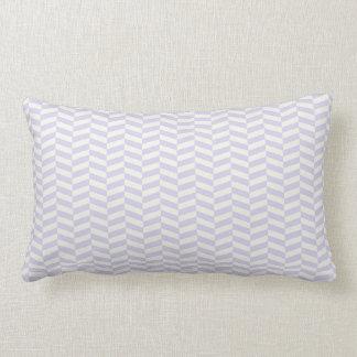 Pale lavender purple herringbone throw pillow