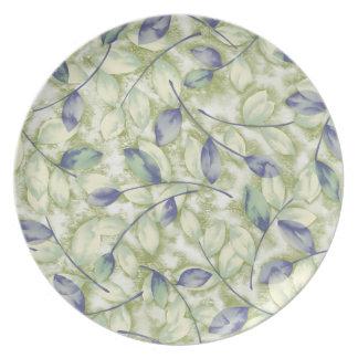 Pale Leaves Dinner Plate
