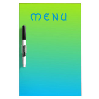Pale Lime And Blue Two Tone Dry Erase Board