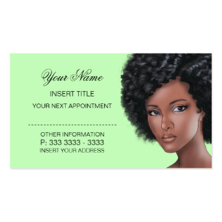 Pale Lime Green - Beauty Appointment Business Card