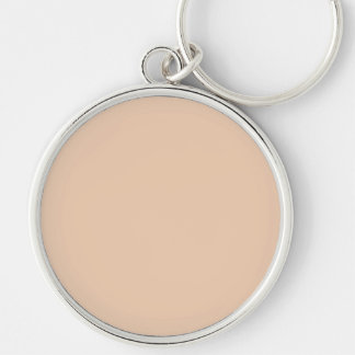 Pale Linen Beige Color Trend Blank Template Keychains