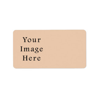 Pale Linen Beige Color Trend Blank Template Label