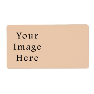 Pale Linen Beige Color Trend Blank Template Custom Shipping Label