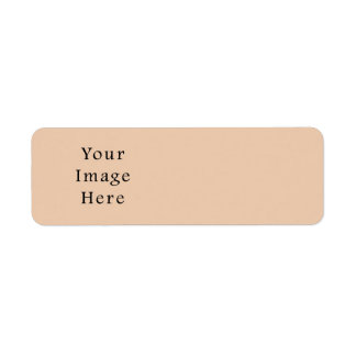 Pale Linen Beige Color Trend Blank Template Custom Return Address Label