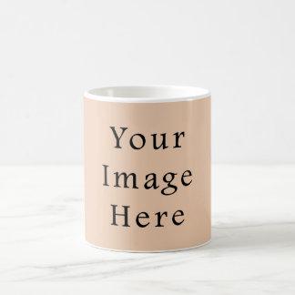 Pale Linen Beige Color Trend Blank Template Mugs