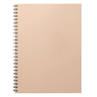 Pale Linen Beige Color Trend Blank Template Note Books