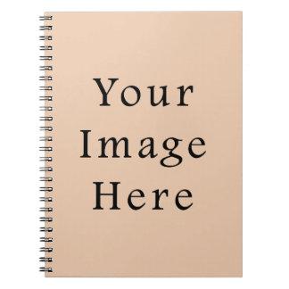 Pale Linen Beige Color Trend Blank Template Spiral Notebook