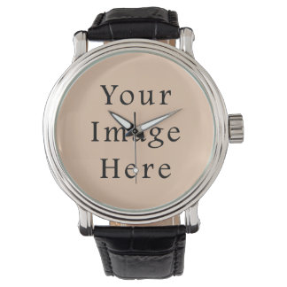 Pale Linen Beige Color Trend Blank Template Watches