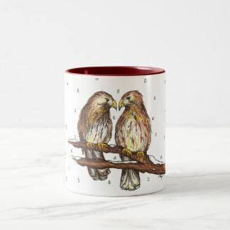 Pale Male Lola Central Park Birds Christmas Mug
