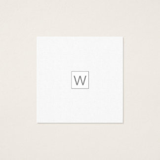 Pale Masculine Modern ALL TRADES Professional Square Business Card