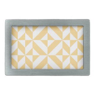 Pale Melon Geometric Deco Cube Pattern Rectangular Belt Buckle
