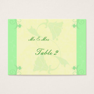 Pale Mint and Cream Scroll and Flower Wedding Business Card