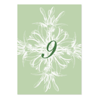 Pale Mint  Floral Wedding Table Cards Large Business Card