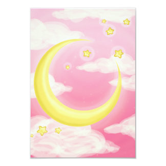 Pale Moon on Pink Custom Announcements