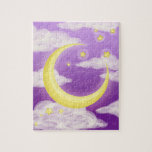 Pale Moon on Purple Puzzles