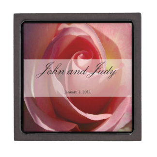 Pale Moon Rose Personal Wedding Jewelry Box