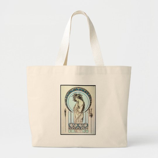 Pale Mucha Large Tote Bag