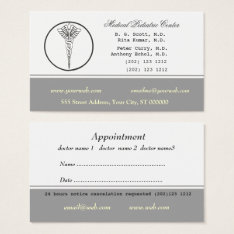 Pale Neutral Color Medical Doctor Appointment Business Card at Zazzle