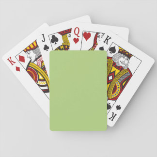 Pale Olive Green colored Playing Cards