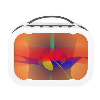 Pale Orange and Blue Contrast Yubo Lunchbox