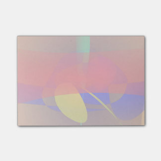Pale Orange and Blue Contrast Post-it® Notes