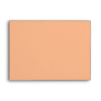 Pale Orange Greeting Card Envelope