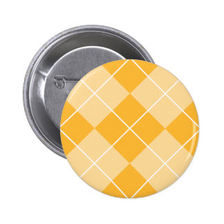 Pale Orange Sherbet Argyle Button